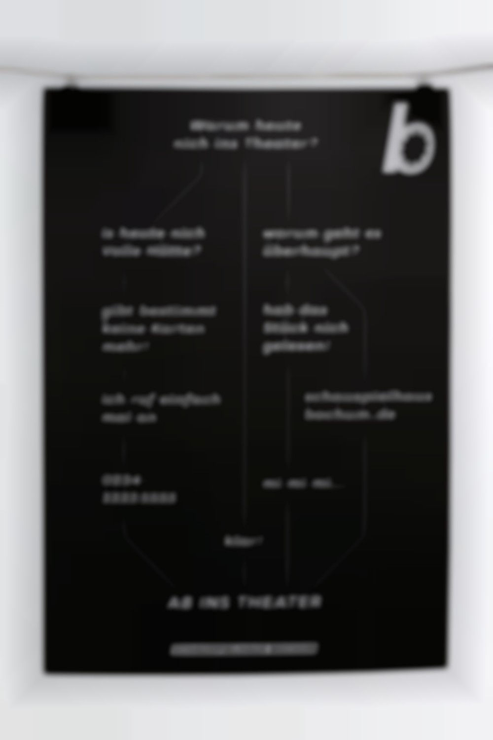 Ab ins Theater Poster